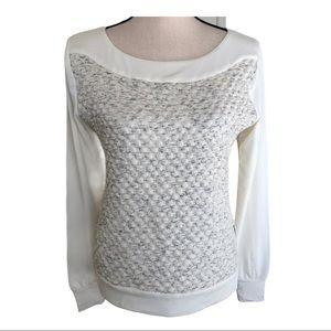 Tart Texture Crewneck Long-sleeve Shirt • Size XS